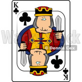 K/King of Clubs Playing Card Clipart © Dennis Cox #4841