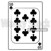 Ten/10 of Clubs Playing Card Clipart © djart #4843