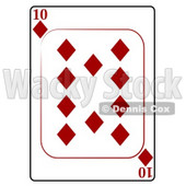 Ten/10 of Diamonds Playing Card Clipart © djart #4846