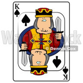 K/King of Spades Playing Card Clipart © Dennis Cox #4848