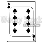Eight/8 of Spades Playing Card Clipart © djart #4849