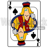 J/Jack of Spades Playing Card Clipart © djart #4851