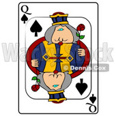 Q/Queen of Spades Playing Card Clipart © djart #4853