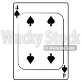 Four/4 of Spades Playing Card Clipart © djart #4854