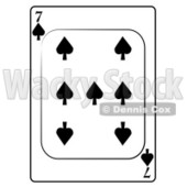 Seven/7 of Spades Playing Card Clipart © djart #4855
