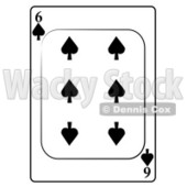 Six/6 of Spades Playing Card Clipart © djart #4857
