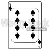 Nine/9 of Spades Playing Card Clipart © djart #4858