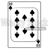 Ten/10 of Spades Playing Card Clipart © djart #4860