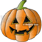 Carved Halloween Pumpkin Face Clipart © Dennis Cox #4870