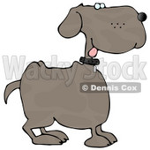 Happy Dog with Tongue Out Clipart © djart #4893