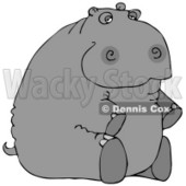 Hippopotamus Sitting On His Butt Clipart © Dennis Cox #4898
