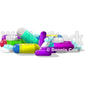 Assorted Medicine Tablets & Capsules Clipart © Dennis Cox #4911