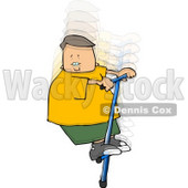 Boy Jumping Up and Down On a Pogo Stick Clipart © djart #4914