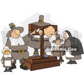 The Pilgrim Pillory Clipart © Dennis Cox #4928