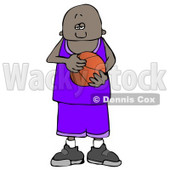 African American Teenage Basketball Player Clipart © Dennis Cox #4929