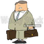 Packed Up Businessman Ready to Travel to New York Clipart © djart #4930
