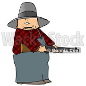 Angry Farmer with a Shotgun Clipart © Dennis Cox #4933