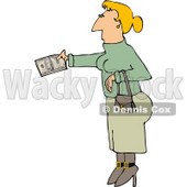 Woman Paying with Cash Clipart © Dennis Cox #4953