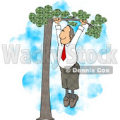 Business Man Hanging Out On A Limb for His Partner Clipart © Dennis Cox #4960