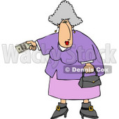 Elderly Overweight Woman Paying with Cash Clipart © djart #4962