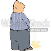 Man Peeing On the Ground in Public Clipart © Dennis Cox #4965