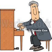 Elderly Man Playing the Piano Clipart © Dennis Cox #4974