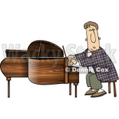 Professional Pianist Playing Grand Piano Clipart © Dennis Cox #4975