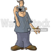 Male Tourist Taking Pictures with a Digital Camera Clipart © djart #4979