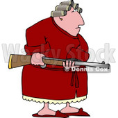 Armed Angry Woman with PMS Clipart © Dennis Cox #4982