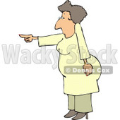 Agitated Woman Pointing Her Finger at Someone Clipart © Dennis Cox #4988