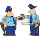 Policemen Toasting Donut and Coffee Cup Together Clipart © Dennis Cox #4997