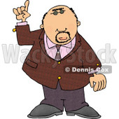Well Dressed Man Pointing Finger Up Clipart © Dennis Cox #4999