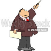 Businessman During a Presentation Pointing a Pointer Stick Clipart © djart #5000