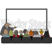 Crowd of People Watching Businessman Give His Presentation Clipart © djart #5002