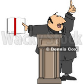 Religious Man Preaching from the Bible Clipart © Dennis Cox #5003