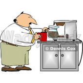 Businessman Getting a Cup of Coffee Clipart © Dennis Cox #5006
