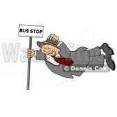 Person Getting Blown Around in the Wind Clipart © Dennis Cox #5007