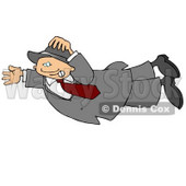Person Getting Blown Around in the Wind Clipart © Dennis Cox #5008