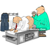 Humorous Male Doctor Giving Patient a Prostate Examination Clipart © djart #5010