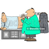 Scared & Worried Man Getting His First Prostate Exam Clipart © djart #5013