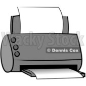 Standard Office Paper Printer Clipart © Dennis Cox #5014