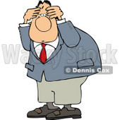 Puzzled Man Wearing a Business Suit Clipart © Dennis Cox #5019