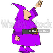 Man Wearing a Purple Wizard Costume On Halloween Clipart © djart #5020