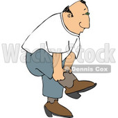 Country Man Putting On His Cowboy Boots Clipart © djart #5021