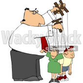 Puppeteer Man Controlling the People In His Life Clipart © Dennis Cox #5025