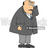 Man with Short Term Memory Scratching His Head While Trying to Remember Something Clipart © djart #5027