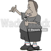 Ethnic Man Rapping Through a Microphone Clipart © djart #5028