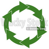 Circular Arrow Recycling Symbol Clipart © Dennis Cox #5038