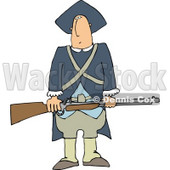 Revolutionary War Soldiers Holding a Loaded Rifle Clipart © Dennis Cox #5046