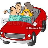 Family and Friends Going On a Road Trip Clipart © Dennis Cox #5052